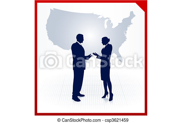 business team silhouettes on corporate elegance background - csp3621459