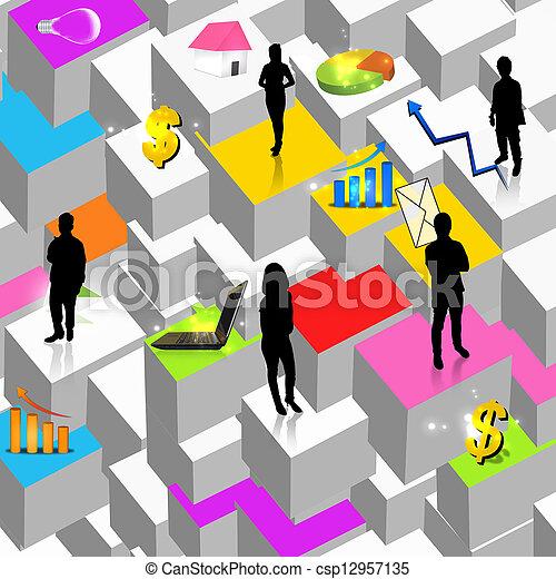 Business team - csp12957135
