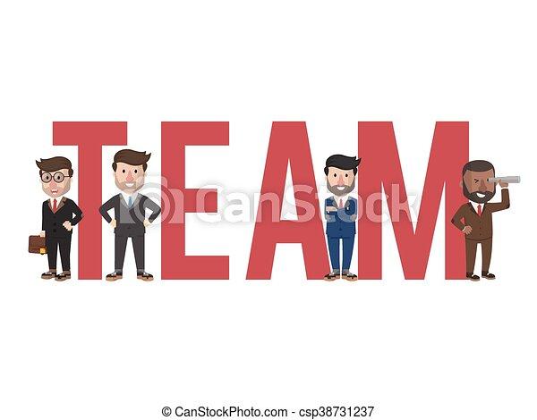 Business team text illustration - csp38731237