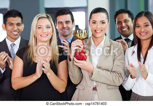 business team winning a competition - csp14781403