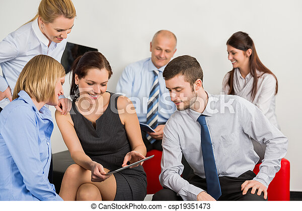Business Team With Digital Tablet - csp19351473