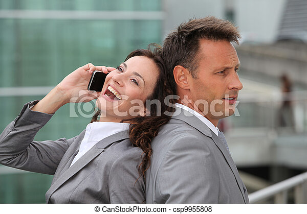 Business team with mobile phone - csp9955808
