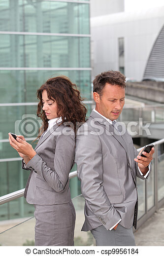 Business team with mobile phone - csp9956184