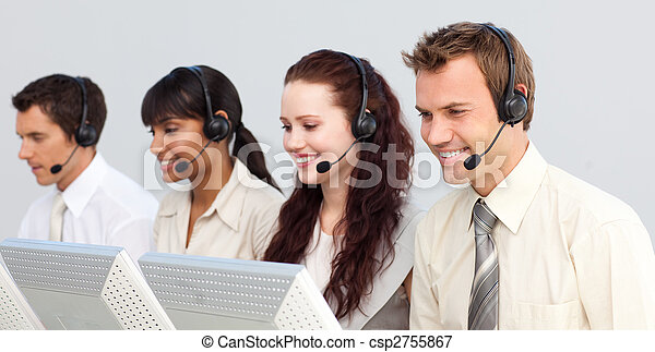 Business team working in a call center - csp2755867