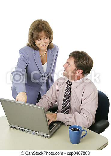 Business Team Working Together - csp0407803