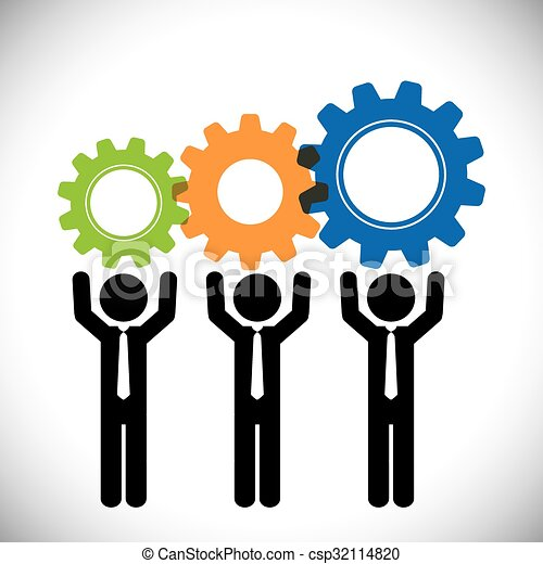 business teamwork and leadership graphic design vector vector rh canstockphoto co uk