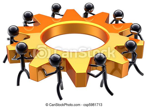 Business teamwork dream team - csp5981713