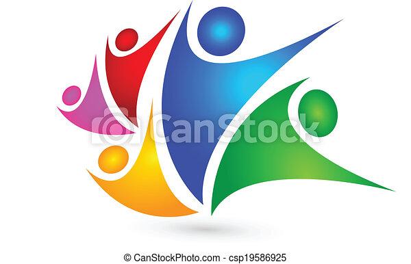 Business teamwork logo concept - csp19586925