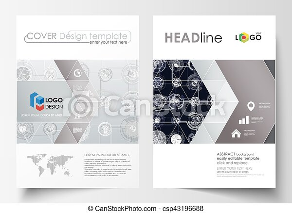 Business Templates For Brochure Magazine Flyer Cover Vector