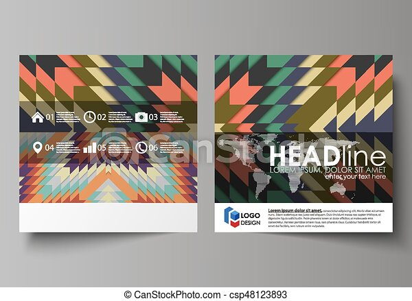 Business Templates For Square Design Brochure Magazine Flyer Booklet Leaflet Cover Abstract