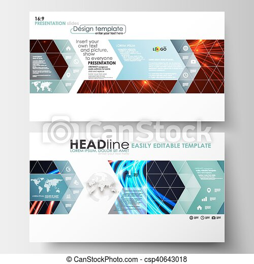 Business Templates In Hd Format For Presentation Slides Easy Editable Flat Layouts Abstract Lines Background With Color Glowing Neon Streams Motion