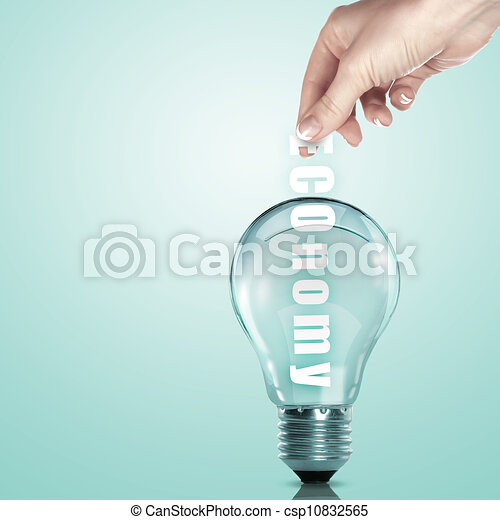 Business term and electric bulb - csp10832565