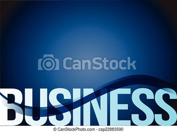 business text blue wave background - csp22883590
