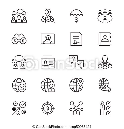Business thin icons - csp50955424