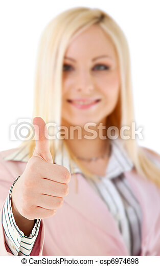 business thumbs up  - csp6974698