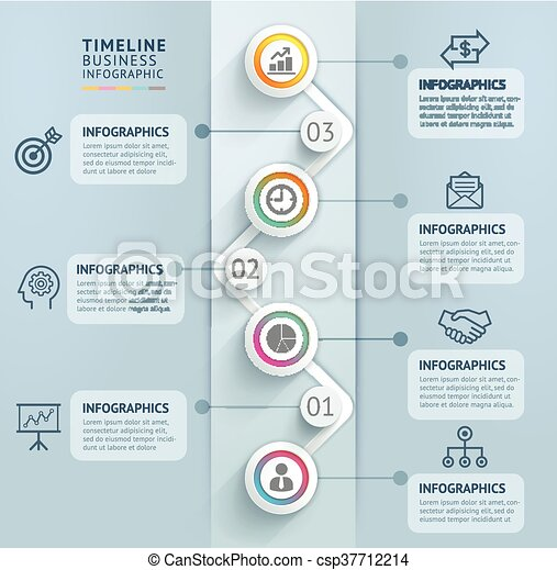 Business timeline infographics. - csp37712214