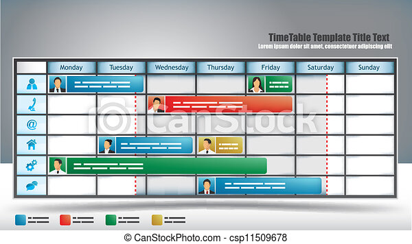 Business Timetable - csp11509678