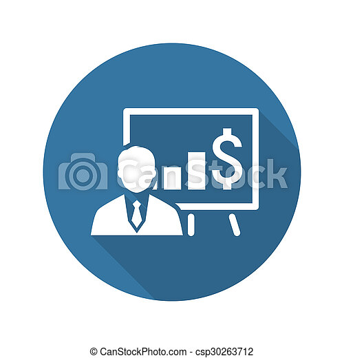 Business Training Icon. Online Learning. Flat Design. - csp30263712