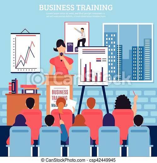 Business training template. Business training template with lecturer ...
