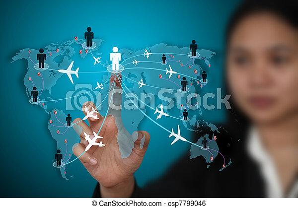 business travel transport concept - csp7799046