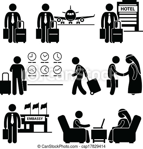 Business Trip Businessman Travel - csp17829414