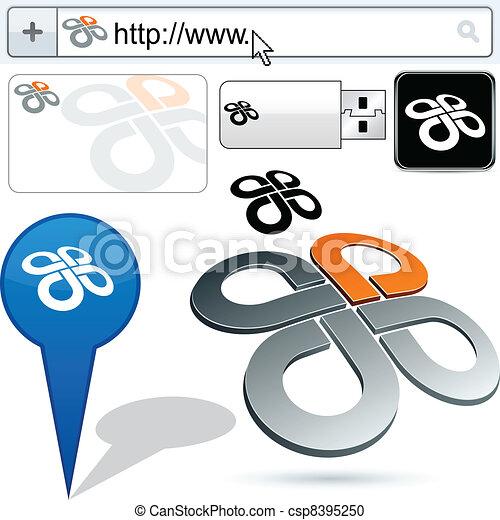 Business twist abstract logo design. - csp8395250