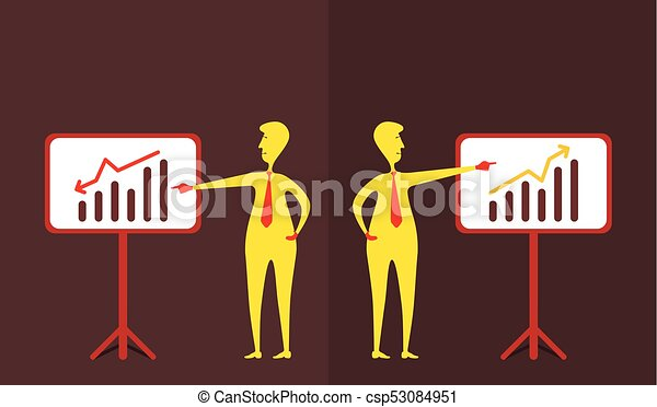 business up and down graph show - csp53084951