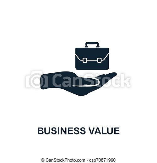 Business Value icon. Creative element design from business strategy icons collection. Pixel perfect Business Value icon for web design, apps, software, print usage - csp70871960