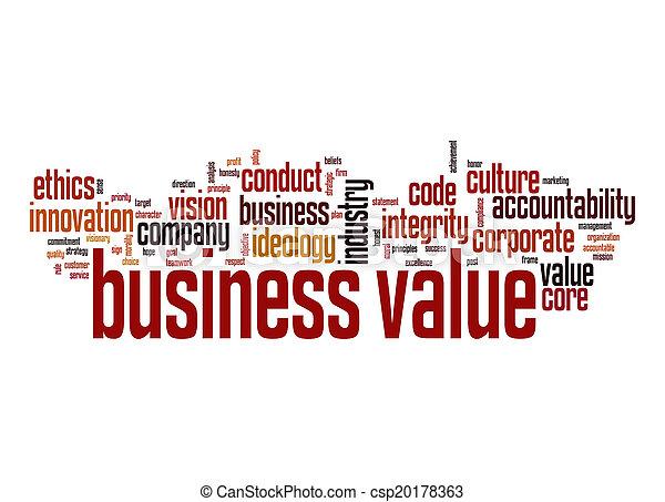 Business value word cloud - csp20178363