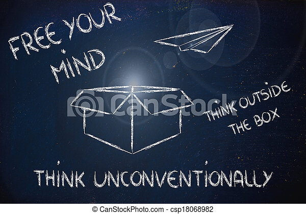 business vision: think outside the box - csp18068982