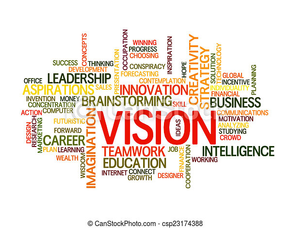 Business vision word cloud - csp23174388