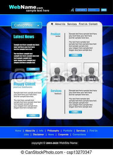 Business WebSite Template - csp13270347