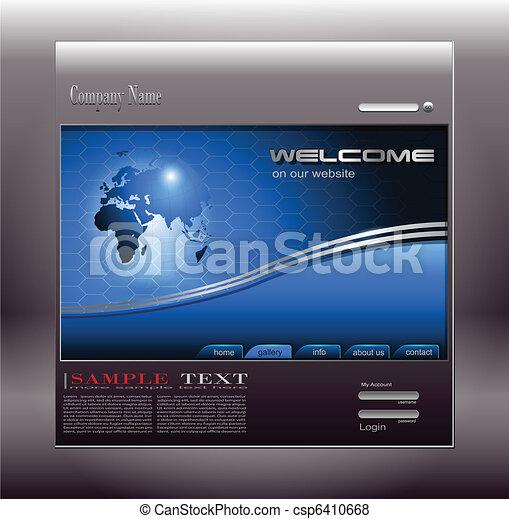 Business website template - csp6410668