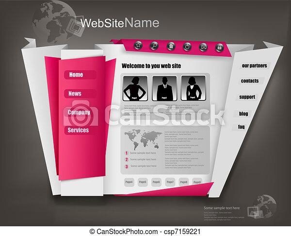 Business website template - csp7159221