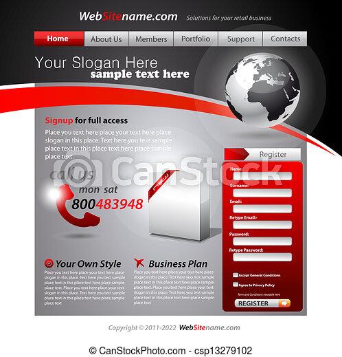 Business WebSite Template - csp13279102