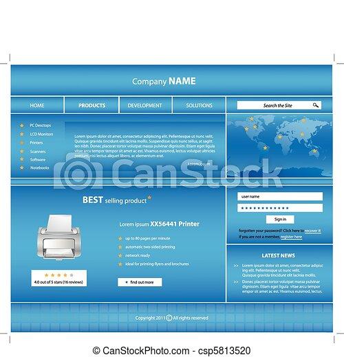 Business website template  - csp5813520