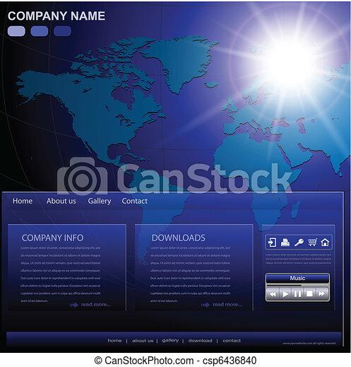 Business website template - csp6436840