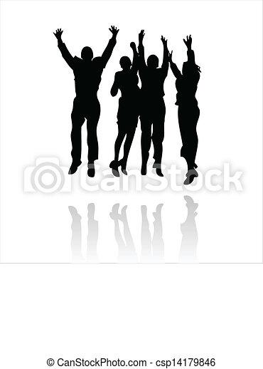 business winning team - csp14179846