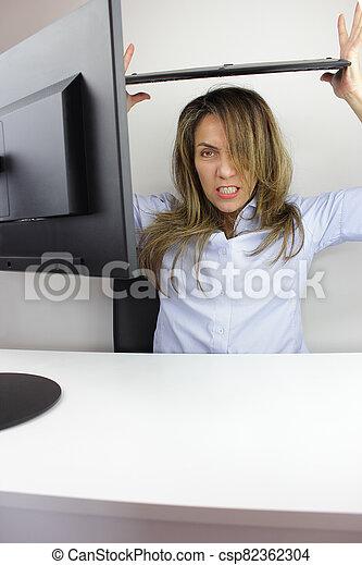 Business woman angr - csp82362304