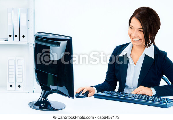 Business woman in an office environment - csp6457173