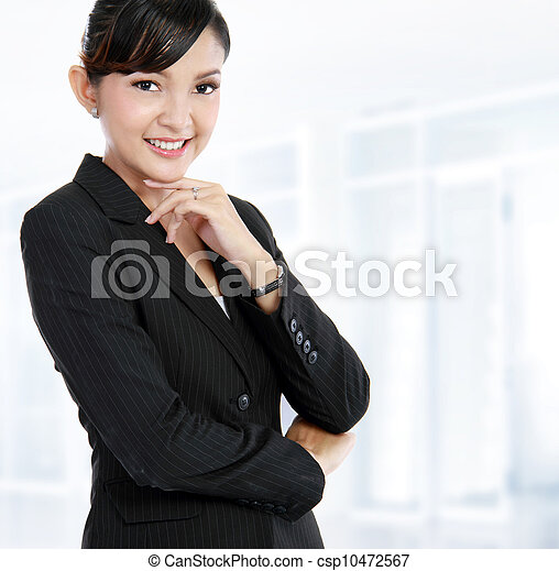 business woman in an office - csp10472567