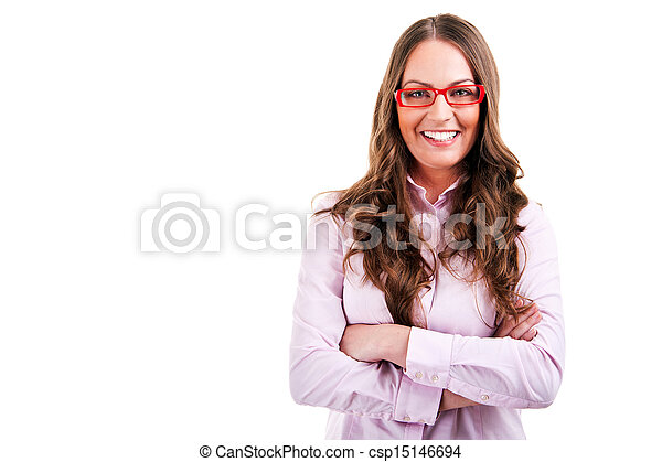 business woman in glasses - csp15146694