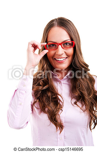 business woman in glasses - csp15146695