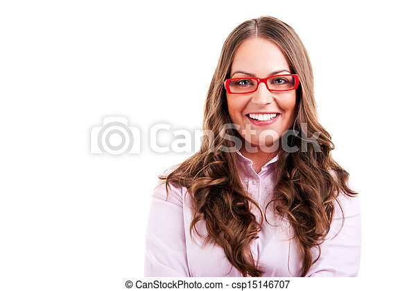 business woman in glasses - csp15146707