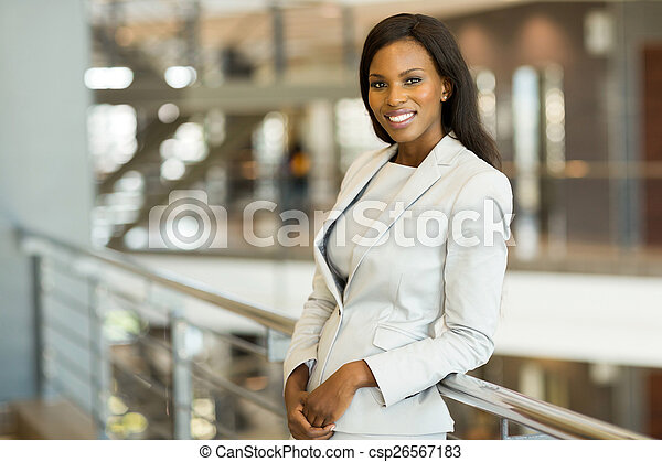 business woman in modern office - csp26567183