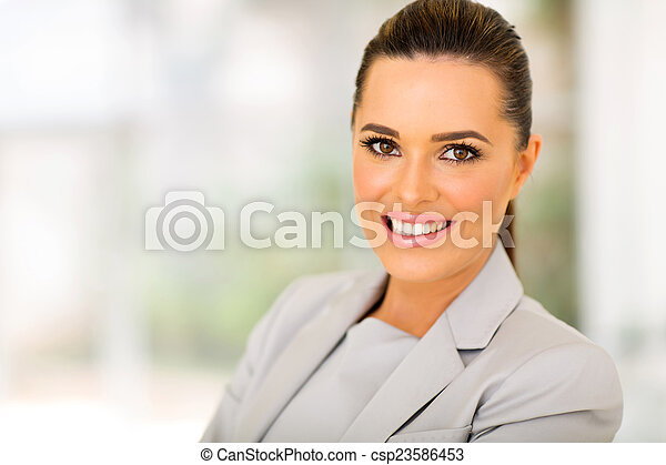 business woman in modern office - csp23586453