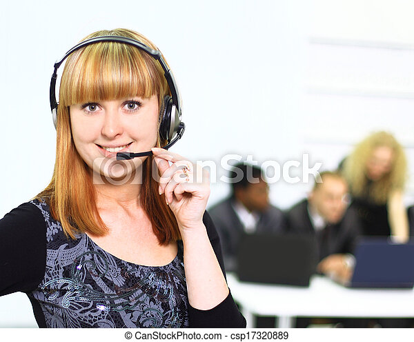 Business woman in office  - csp17320889
