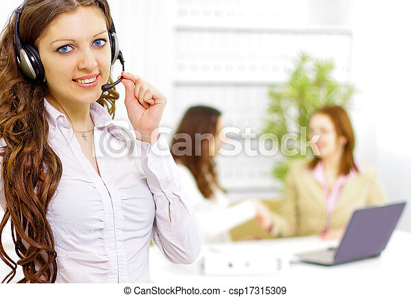 Business woman in office  - csp17315309