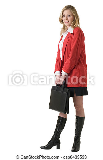 Business woman in red - csp0433533