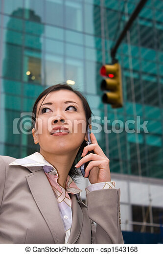 Business Woman In The City - csp1543168